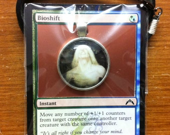 Bioshift - MtG Necklace Made from Actual Card