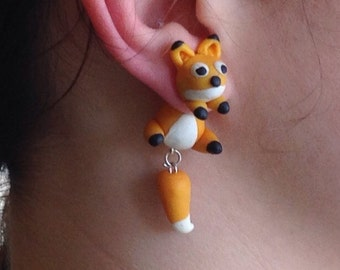 Cute fox earings