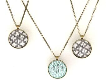 Handmade Monogram Pendant Vintage Jewelry - Personalized Pendant - LeyRē