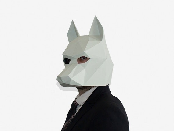 Influential image for 3d paper mask template free printable