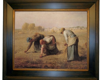 The Gleaners by Jean-Francois Millet Framed Canvas Print