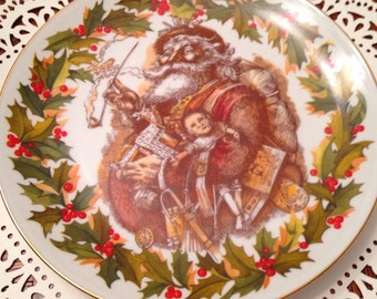 "Thomas Nast's ""Merry Old Santa Claus"" First Limited Edition Plate 711/10,000"