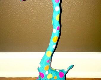 Paper Mache Whimsical Art Giraffe