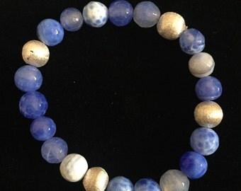 Fine Blue Agate Bracelet
