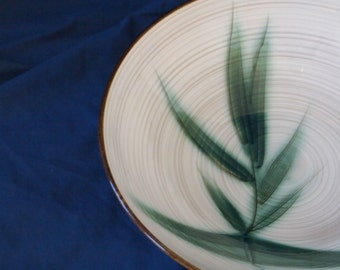Bamboo Motif Stoneware Serving Bowl