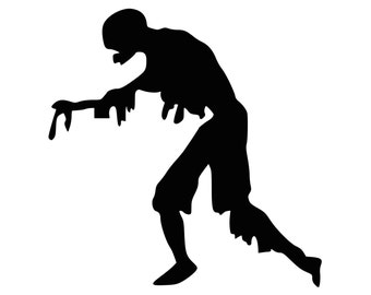 Zombie Car Decal Undead Laptop Decal Macbook Fight the Hoards Vinyl Sticker 0085