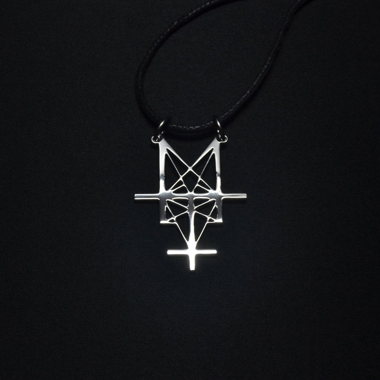 Deicide Pendant Necklace Trifixion Legion Logo Symbol Satan