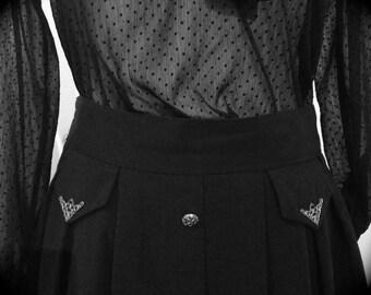 Vintage Long Skirt with Golden Details