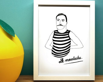 The mustachioed poster