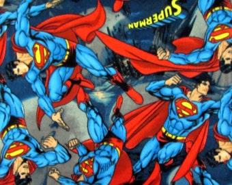 FLEECE Superman Fabric From David Textiles