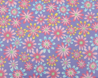 Flower Power Purple Fabric