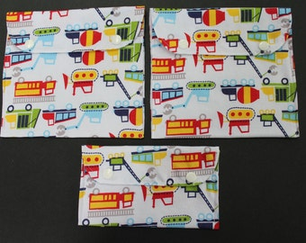 Truck theme reusable sandwich and snack bags