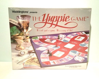 The Yuppie Game 1985 Vintage Board Game by Waddingtons Brand New and SEALED