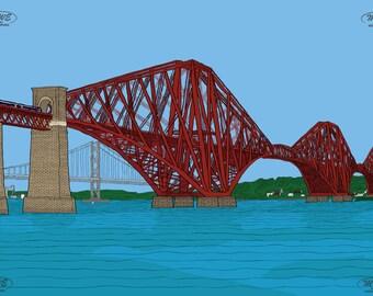 Forth Rail Bridge Mounted print