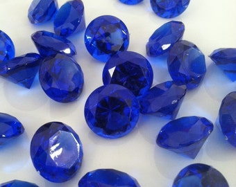 19mm Acrylic Royal Blue Diamond Gem 100pcs Use For Vase Fillers, Table Scatters, Confetti