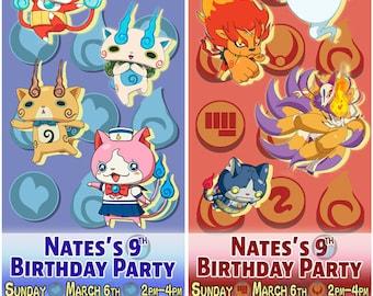Yo-Kai Watch (Yokai Youkai Watch)  Printable Digital File Personalized Custom Birthday Ticket Invitation