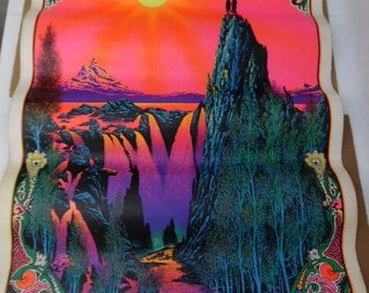 1970 Garden of Eden poster by Burnell Blacklight Psychedelic Vintage Original, #15030556 Poster Bin 4