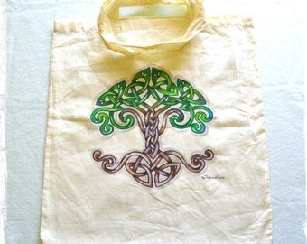 Handpainted Totem bag with tree of life