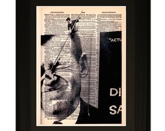 """Coincidence.""""Dictionary Art Print. Vintage Upcycled Antique Book Page. Fits 8""""x10"""" frame"""