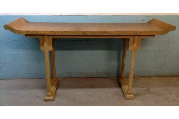 Cerused asian style console table