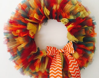 Fall Tulle Wreath