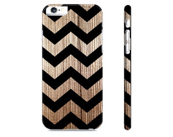 Wood iPhone 6 Case - Chevron iPhone Case - Modern Chevron iPhone 5 Case - Rustic Wood Print iPhone Case - Wood Phone Case - The Mad Case