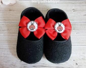 Ladybug Shoes for Ladybug Birthday Outfit - Ladybug Birthday - Ladybug First Birthday Outfit - Ladybug Tutu - Lady Bug 1st Birthday Outfit