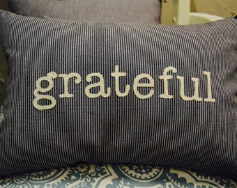 Word Pillow - Grateful