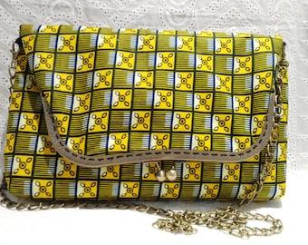 Large African fabric handbags