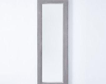 Custom Upholstered mirror 26x56x3