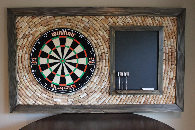 wine cork dartboard backer with scoreboard and dart storage. Black Bedroom Furniture Sets. Home Design Ideas
