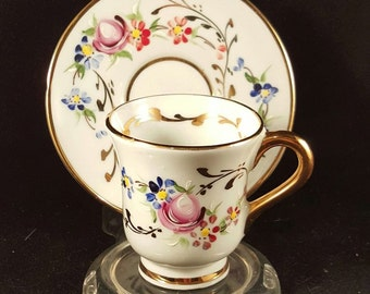 Aveiro Hand Painted Demitasse Cup and Saucer