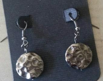 Metal ripple earrings/earrings/jewelry/earring