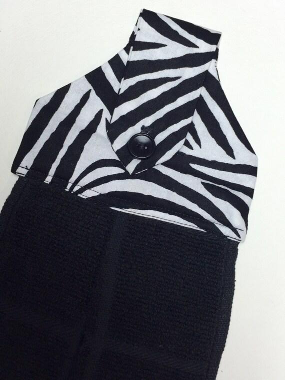 Zebra Print Hanging Hand Towel Zebra Kitchen By