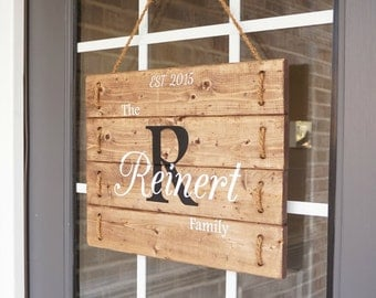 Family Wood Sign Personalized Custom Outdoor Name Signs