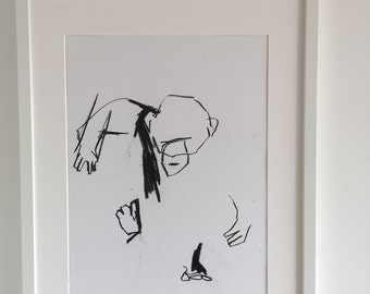 Abstract playful Chimp