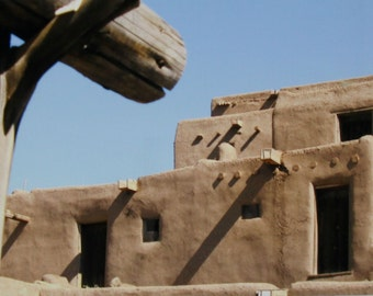 Nature Travel Photograph 5x7 Blank Greeting Card Taos Pueblo New Mexico