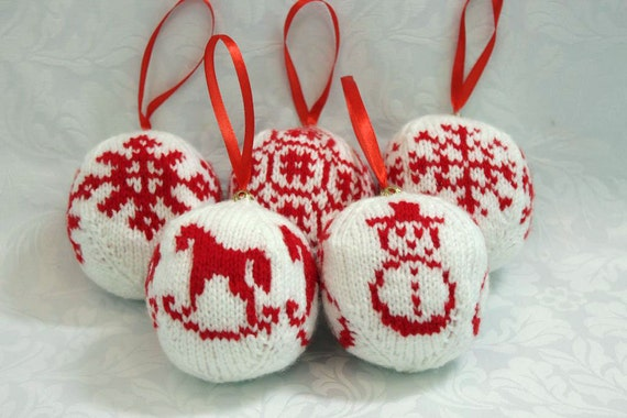 Knitted toys/toys on the Christmas tree/Christmas decorations/Christmas toys/Christmas/New Year Gift Set toys