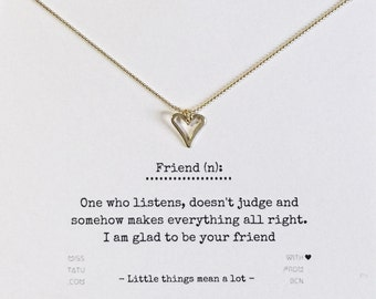 Love necklace - Message for a Friend