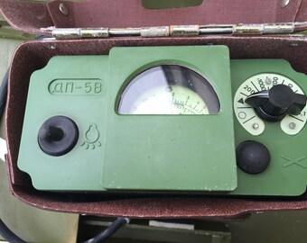 Military Geiger Counter Dosimeter DP-5V Soviet Russia with green box DP-5V (ДП-5В