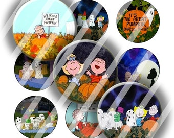 Digital Bottle Cap Collage Sheet - Halloween 8 - 1 Inch Circles Digital Images for Bottlecaps
