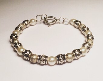 Silver With Pearl Accents