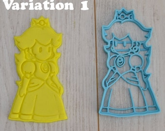 Princess Peach cookie cutter from Super Mario
