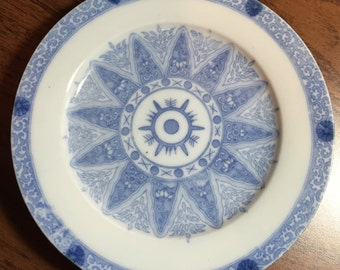 Oriental Blue and White Porcelain Plates