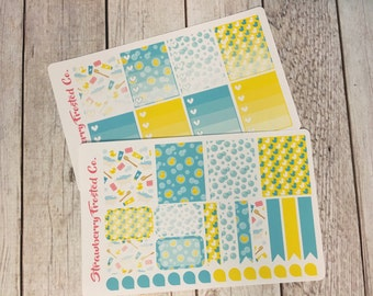Bath Time/Rubber Duck Themed Planner Stickers - Made to fit Vertical Layout