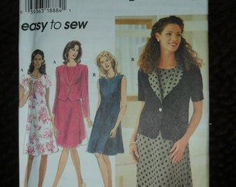 Misses Jacket and Dress Plus Size Simplicity Pattern #7117
