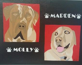 Custom Made Pop Art Style Pet Portrait