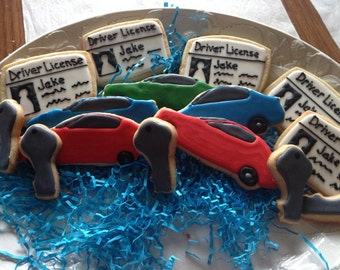 Decorated Sugar Cookies 16th Birthday New Driver
