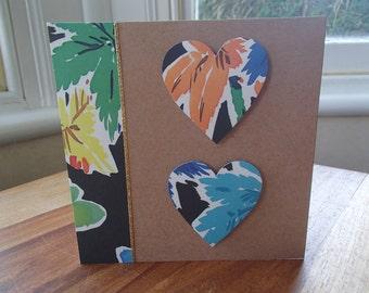 Fiery flowers blank card