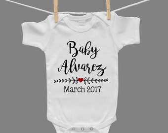 Pregnancy Announcement Gender Neutral Baby Bodysuit